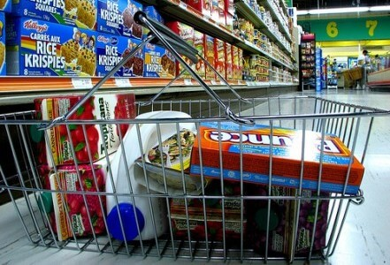 cart of groceries