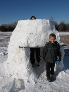 building the igloo