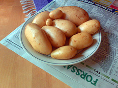bowl of potatos