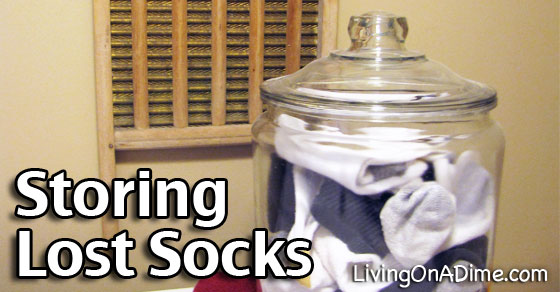 Storing Lost Socks - Easy Organizing Idea