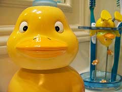saving money bathroom rubber ducky