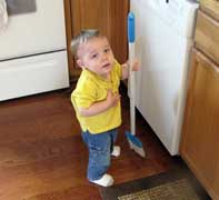 Jack helping with kids chores