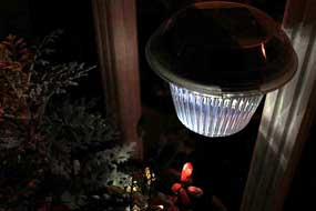 A solar light makes a great night light!