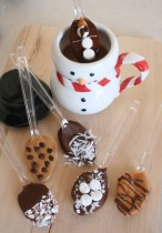 Chocolate Covered Spoons - Homemade Christmas Gifts