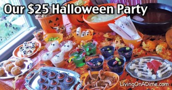 Our $25 Halloween Party - How To Have A Cheap But Fun Halloween Party