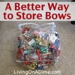 A Better Way to Store Bows!