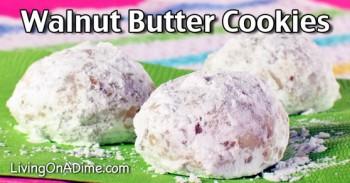 Walnut Butter Cookies Recipe