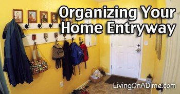 Organizing Your Home – My New Coat Rack And Entryway