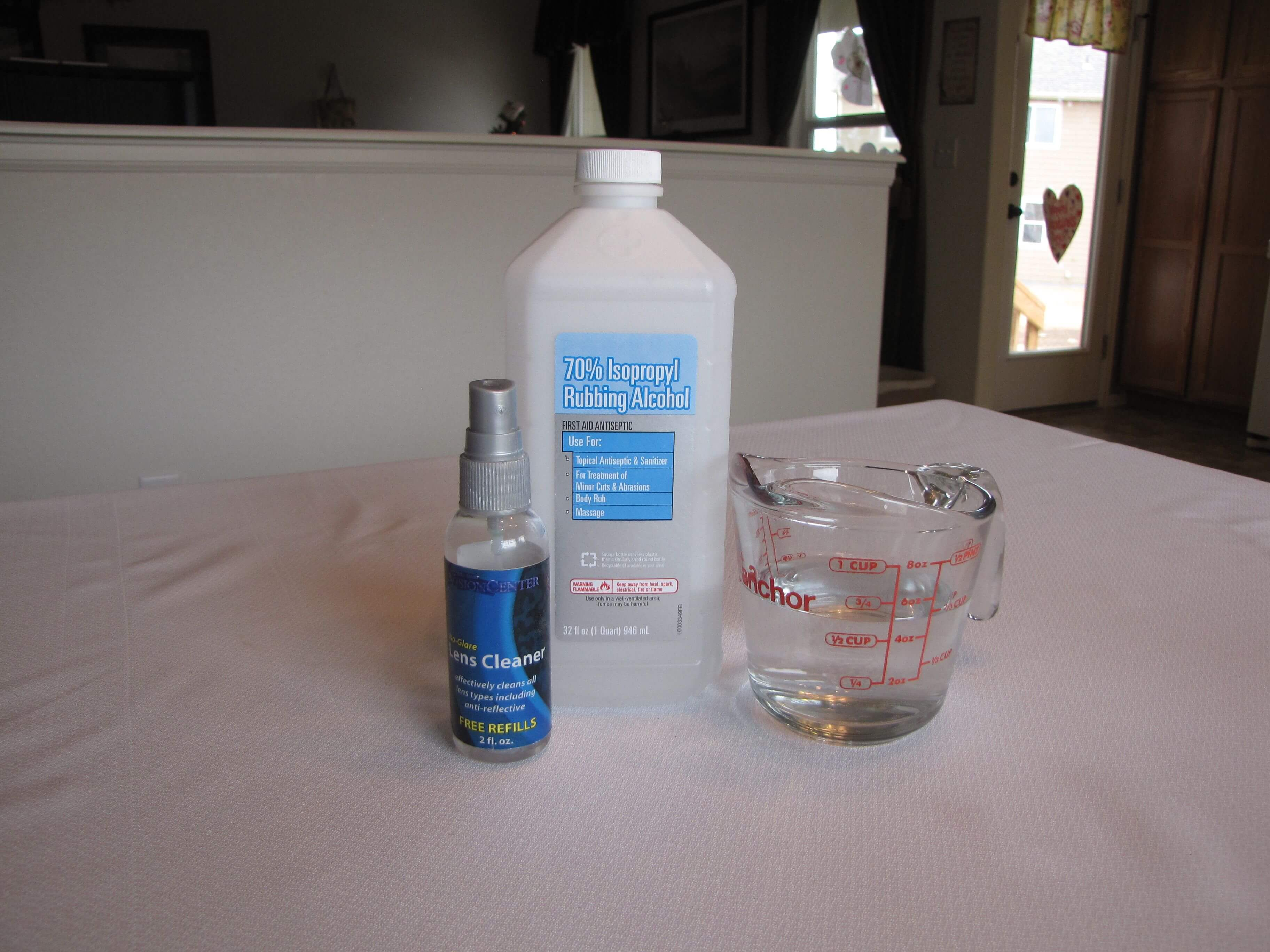 www.LivingOnADime.com, Homemade Eye Glass Cleaner