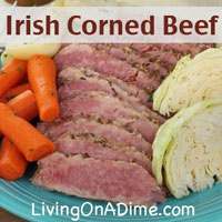 Irish Corned Beef Brisket and Cabbage