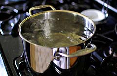 waiting for water to boil