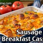 Sausage Apple Overnight Breakfast Casserole Recipe