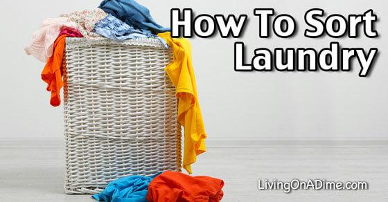 How To Sort Laundry - Laundry 101