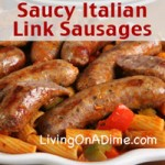 Saucy Italian Link Sausages Recipe