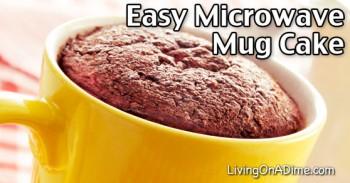 Easy Microwave Mug Cake Recipe