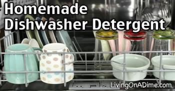 2 Ingredient Homemade Dishwasher Detergent Recipe