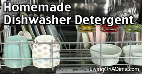 2 Ingredient Homemade Dishwasher Detergent Recipe