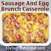 Sausage And Egg Brunch Casserole