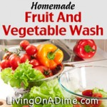 Homemade Fruit and Vegetable Wash Recipe