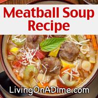 Easy Meatball Soup Recipe