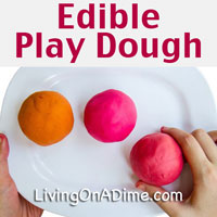 Homemade Edible Play Dough Recipe