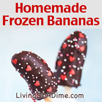 Homemade Frozen Bananas Recipe