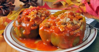 Fast Stuffed Green Peppers Recipe