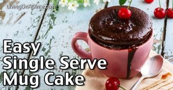 Easy Single Serve Mug Cake Recipe