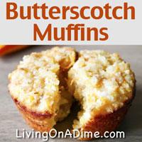 Homemade Butterscotch Muffins Recipe