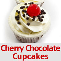 Valentine's Day Recipes - Cherry Chocolate Cupcakes