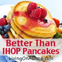 Better Than IHOP Pancakes Recipe