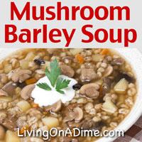 Mushroom Barley Soup Recipe And Brownie/Banana Delight