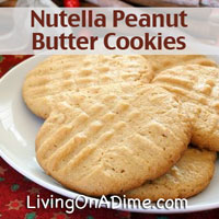 Nutella Filled Peanut Butter Cookies