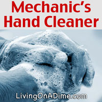 Mechanics Tough Hand Cleaner Recipe