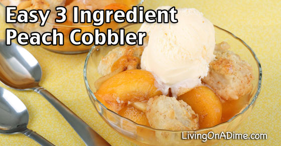 Easy 3 Ingredient Peach Cobbler Recipe