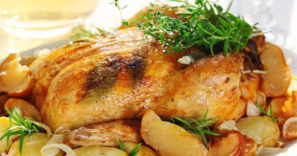 Easy Garlic Roasted Chicken Crockpot Recipe