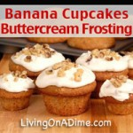 Banana Cupcakes Buttercream Frosting