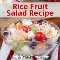 Rice Fruit Salad Recipe