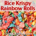Rice Krispy Rainbow Rolls Recipe