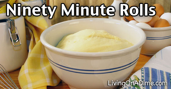 Ninety Minute Rolls Recipe