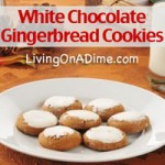 White Chocolate Covered Gingerbread Cookies