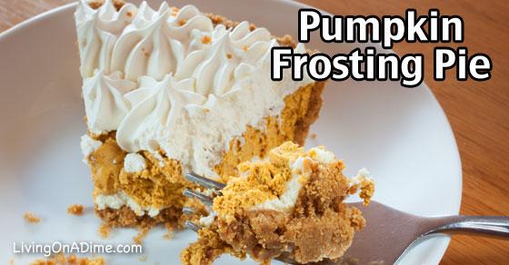Pumpkin Frosting Pie Recipe