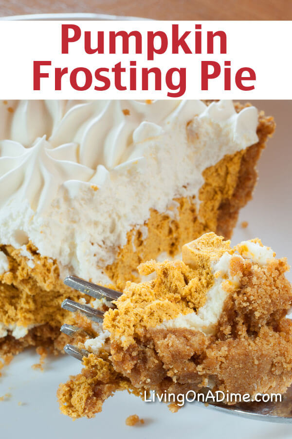Pumpkin Frosting Pie Recipe