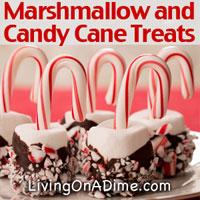 Marshmallow Candy Cane Treats