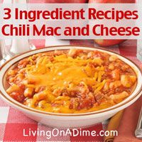 3 Ingredient Recipes - Chili Macaroni and Cheese, Buttery Peas and Zucchini