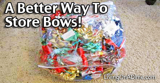 A Better Way to Store Christmas And Holiday Bows!