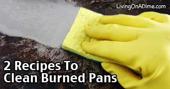 2 recipes to clean burned pots and pans - Clean burnt grease oven pots pans ...