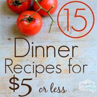 15 Inexpensive Dinner Recipes