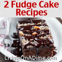 Easy Fudge Cake Recipes - Triple Fudge And Caramel