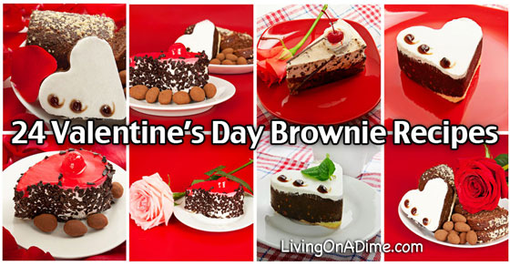 24 Valentines Day Brownie Recipes